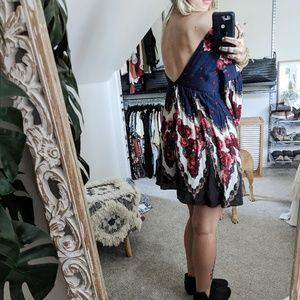 Free People Dresses - Free people Open Back Floral Dress